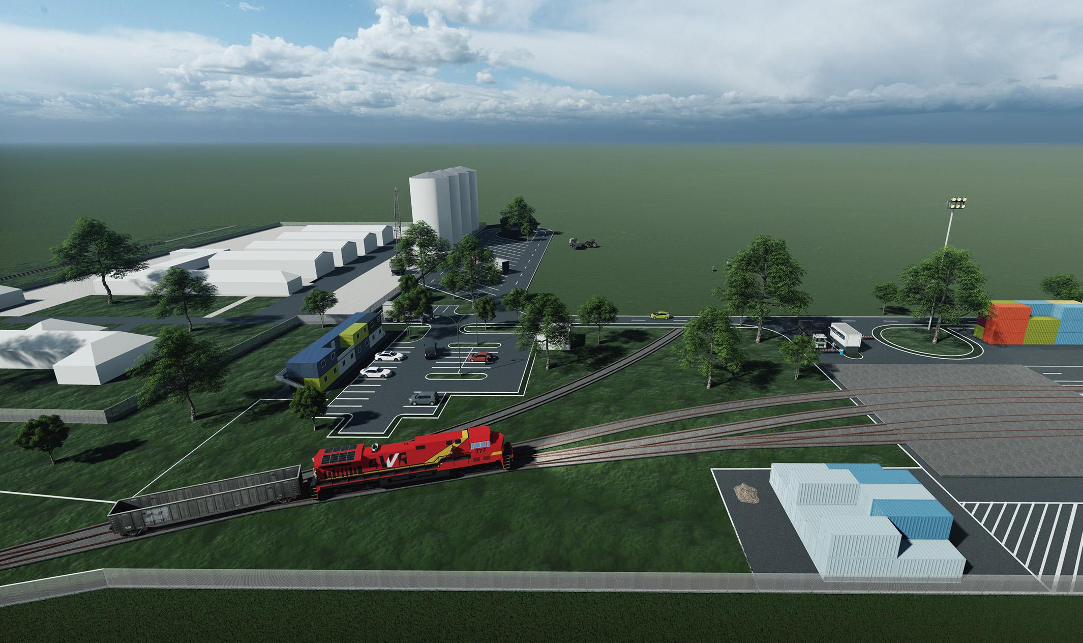 Randare terminal intermodal Arad